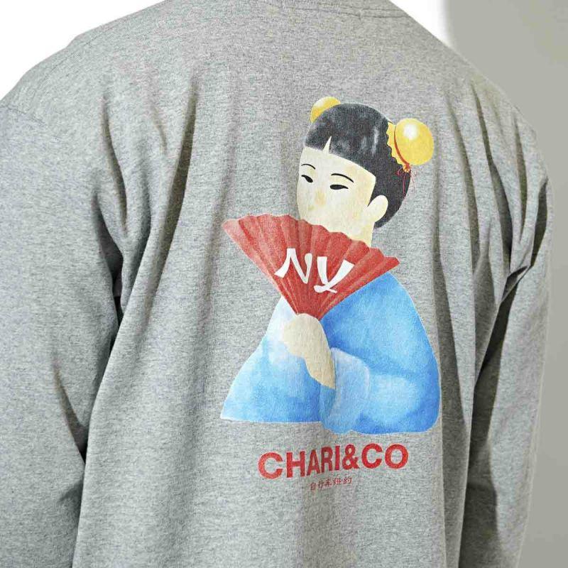 GIRL FOLDING FAN L/S TEE Tシャツ ロンT