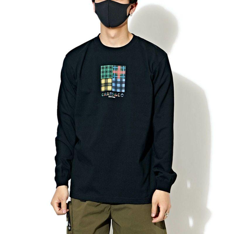TARTAN CHECK LOGO L/S TEE Tシャツ ロンT