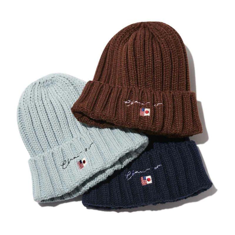 SCRIPT LOGO KNIT CAP 帽子