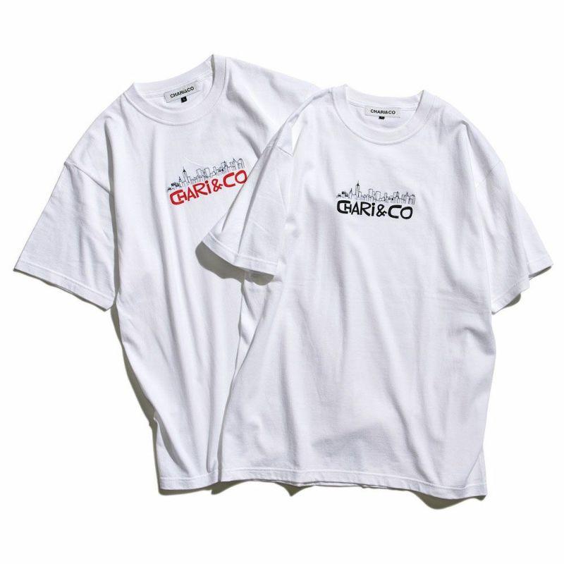 x HANAI YUSUKE EMBROIDERY SKYLINE TEE Tシャツ