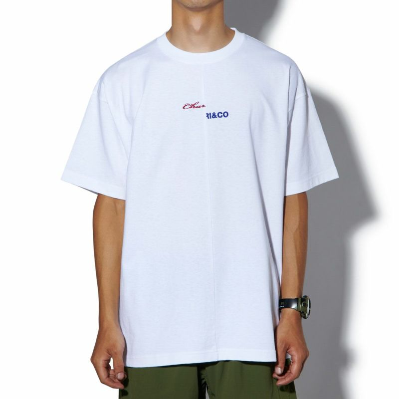 THEN AND NOW LOGO SPLIT TEE Tシャツ