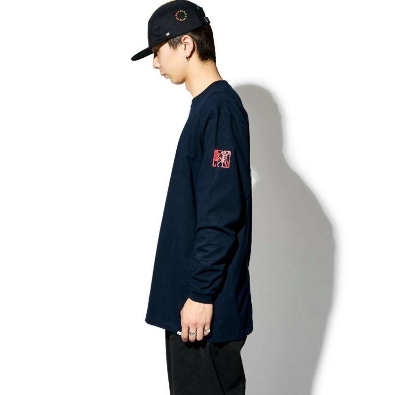 × SHIDO AKAMA TWO FLAGS L/S TEE Tシャツ ロンT
